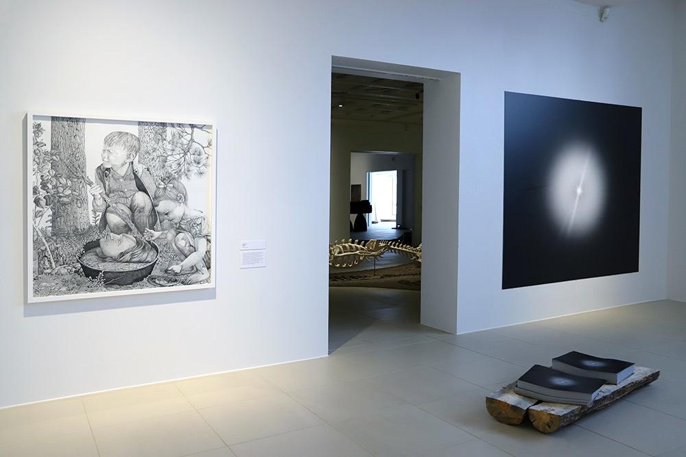 Näkymä Saarijärven museon näyttelystä